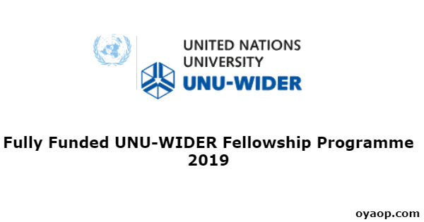 Fully Funded UNU-WIDER Fellowship Programme 2019