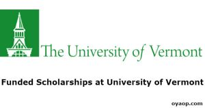 Funded Scholarships at University of Vermont