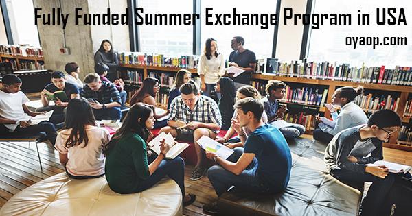 Fully Funded Summer Exchange Program in USA