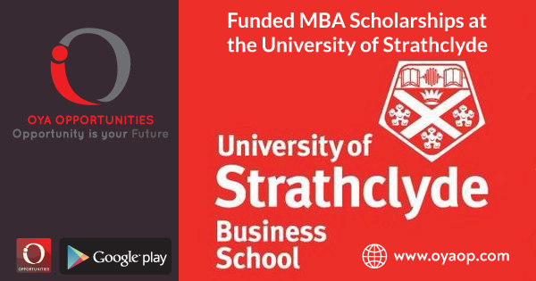 Funded MBA Scholarships at University of Strathclyde