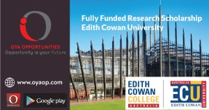 Fully Funded Research Scholarship at Edith Cowan University