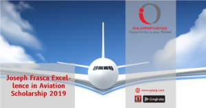 Joseph Frasca Excellence in Aviation Scholarship 2019