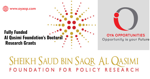 Fully Funded Al Qasimi Foundation's Doctoral Research Grants