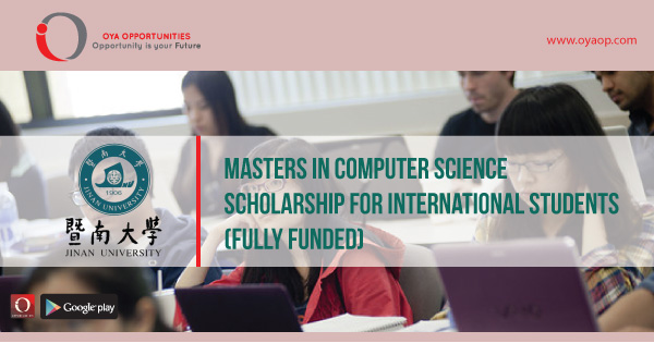 Masters in Computer Science Scholarship for International Students (fully funded)