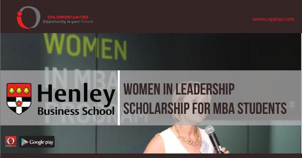 Women in Leadership Scholarship For MBA Students, oyaop, oyaop.com, www.oyaop.com, oyaop opportunities, oya opportunities