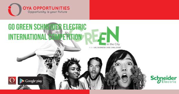 Go Green Schneider Electric International Competition