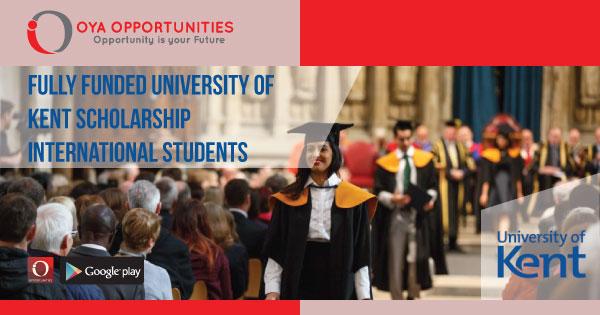 Fully Funded University of Kent Scholarship for International Students