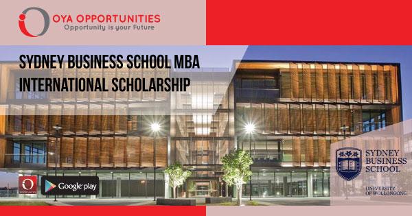 Sydney Business School MBA International Scholarship