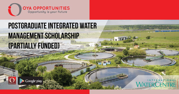 Postgraduate Integrated Water Management Scholarship (Partially Funded)