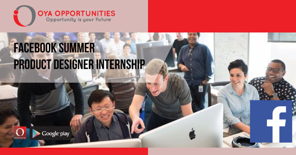 Facebook Summer Product Designer Internship