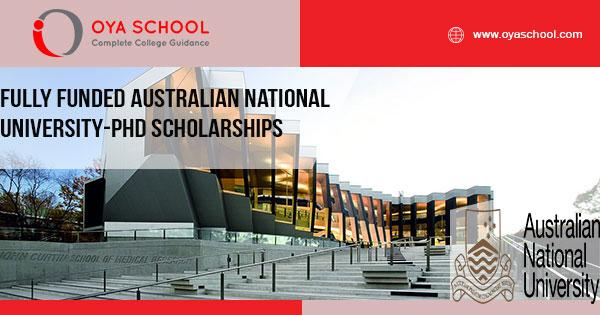 Fully Funded Australian National University-PhD Scholarships