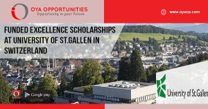 Funded Excellence Scholarships at University of St.Gallen in Switzerland