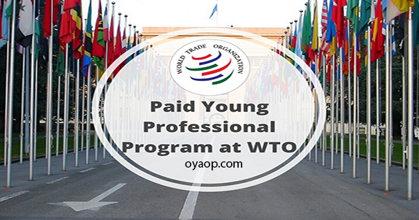World Trade Organization Young Professional Programme 2020