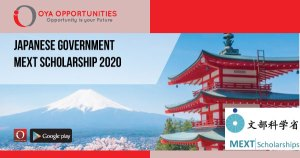 Fully Funded Japanese Government MEXT Scholarship 2020