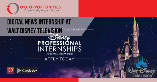 Digital News Internship at Walt Disney Television