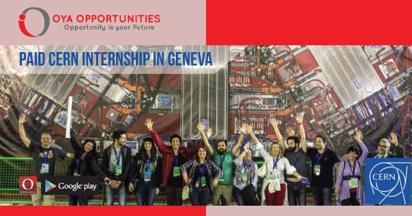 Paid CERN Internship in Geneva