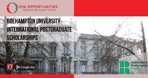 Roehampton University International Postgraduate Scholarships