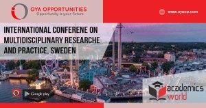 International Conferene on Multidisciplinary Researche and Practice, Sweden
