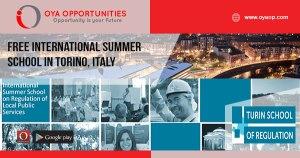 Free International Summer School in Torino, Italy