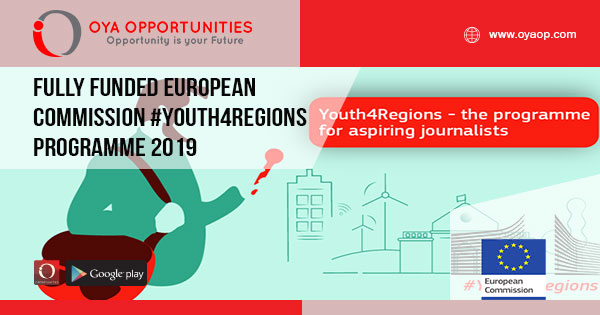 Fully Funded European Commission #Youth4Regions Programme 2019 - OYA