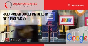 Fully Funded Google Inside Look 2019 in Germany
