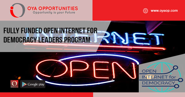 Fully Funded Open Internet For Democracy Leaders Program