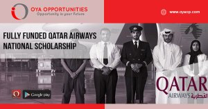 Fully Funded Qatar Airways National Scholarship