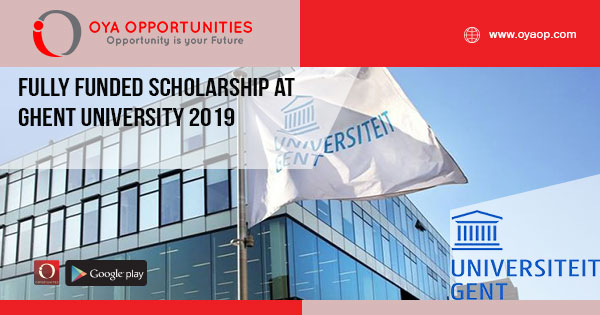 Fully Funded Scholarship at Ghent University 2019.