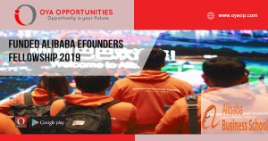 Funded Alibaba eFounders Fellowship 2019