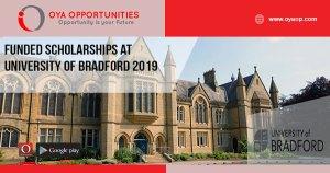 Funded Scholarships at University of Bradford 2019