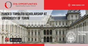 Funded TOPoliTO Scholarship at University of Turin