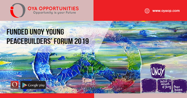 Funded UNOY Young Peacebuilders' Forum 2019
