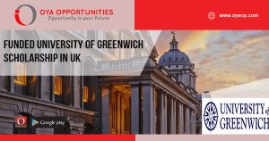 Funded University of Greenwich Scholarship in UK
