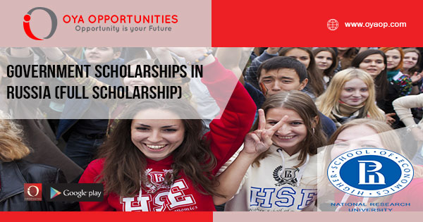 Government Scholarships in Russia (Full Scholarship)