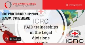 ICRC Paid Traineeship 2019 – Geneva, Switzerland