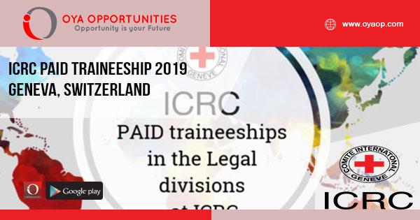 ICRC Paid Traineeship 2019 – Geneva, Switzerland
