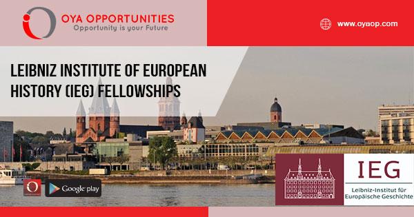 Leibniz Institute of European History(IEG) Fellowships