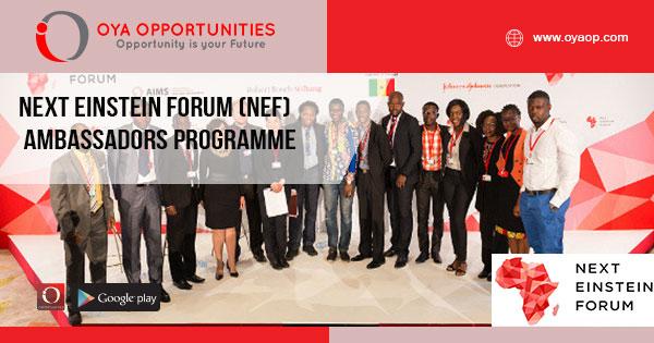 Next Einstein Forum (NEF) Ambassadors Programme