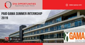 Paid GAMA Summer Internship 2019
