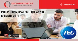 Paid Internship at P&G Company in Germany 2019