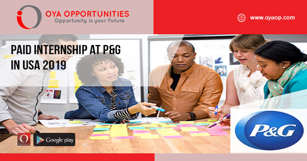 Paid Internship at P&G in USA 2019