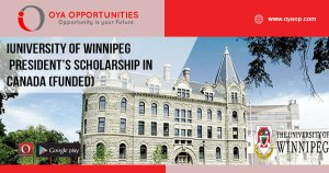 University of Winnipeg President's Scholarship in Canada (Funded)