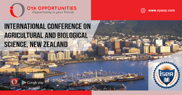 International Conference on Agricultural and Biological Science, New ZealandInternational Conference on Agricultural and Biological Science, New Zealand
