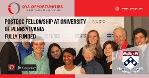 Postdoctoral Fellowship at University of Pennsylvania [Fully Funded]