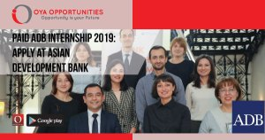 Paid ADB Internship 2019 | Apply at Asian Development Bank