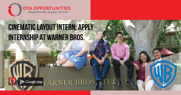 Cinematic Layout Intern | Apply Internship at Warner Bros.