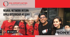 Neural Network Intern | Apply Internship at Sony