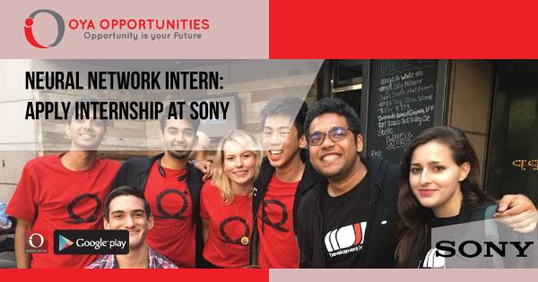 Neural Network Intern | Apply Internship at Sony