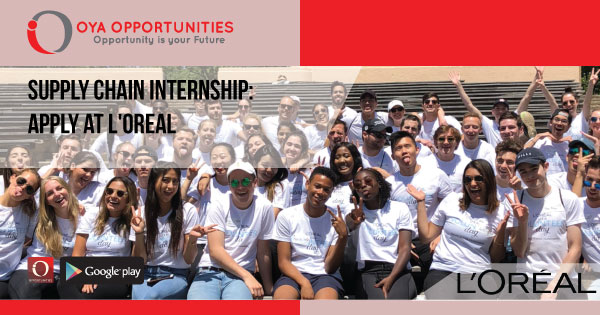 Supply Chain Internship | Apply at L'Oreal