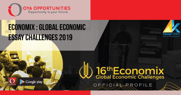 Economix : Global Economic Essay Challenges 2019